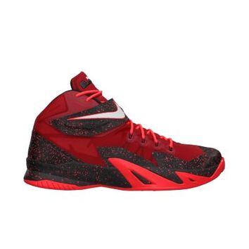 Nike Zoom LeBron Soldier VIII Premium Men's Basketball Shoes - University Red