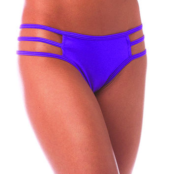 Pole Dancers Purple Stripe Side Scrunch Bottom