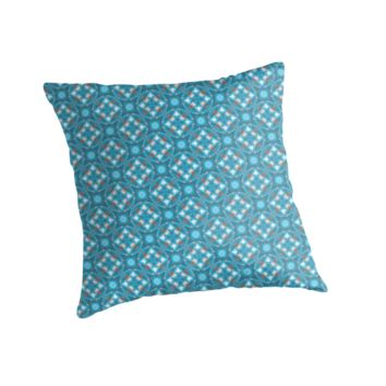 'Unique Original Blue Abstract' Throw Pillow by pugmom4