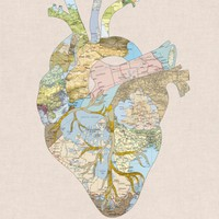 A Traveler's Heart Canvas Print by Bianca Green | Society6