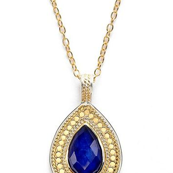 Women's Anna Beck 'Gili' Teardrop Pendant Necklace - Gold/ Lapis