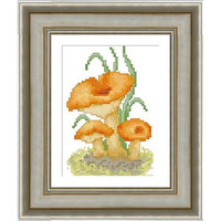 Mushrooms (Chanterelle) - PDF Cross Stitch Pattern - INSTANT DOWNLOAD