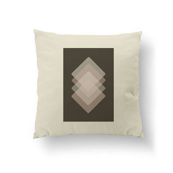 Brown Pink Pillow, Minimal Design, Cushion Cover, Subdued Textures, Throw Pillow, Mid Century, Simple Art, Decorative Pillow, Home Decor
