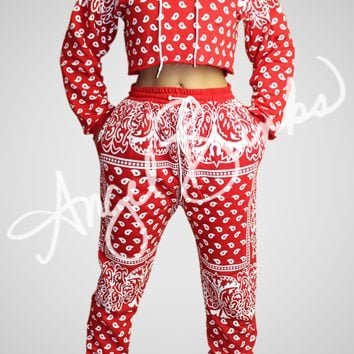 Bandana SweatSuit (Red)