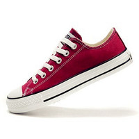 """Converse"" Fashion Canvas Flats Sneakers Sport Shoes Low tops Wine red"