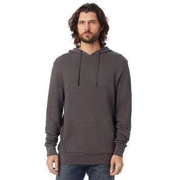 Alternative Apparel - Challenger Washed French Terry Pullover Dark Grey Hoodie