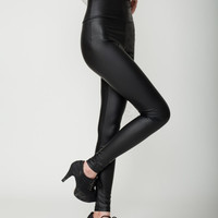 hot Sexy Womens Skinny Faux Leather High Waist Trousers Leggings Pants