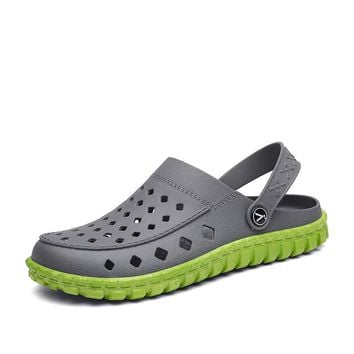 Summer Shoes Man Outdoor Sandals Breathable Beach Slippers Boy Rubber Sports Shoes Shower River Sea Mules Tenis Masculino