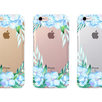 iPhone 6s Case - Hydrangea - iPhone 6s case, iPhone 6 case, iPhone 6+ case - Clear Flexible Rubber TPU case J27