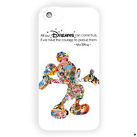 Walt Disney Dreams Quote Mickey Mouse For iPhone 5 / 5S / 5C Case