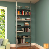 """SALE Item - Compression Pole Mounted 32"""" Wide Single Bay Shelving System"""