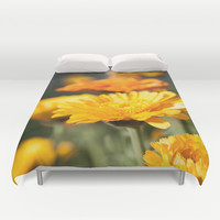 Photo of Flowers in the Sunshine Duvet Cover by GriffingPhotography