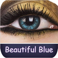 Blue Contact Lenses | Beautiful Blue Big Eyes Contact Lenses