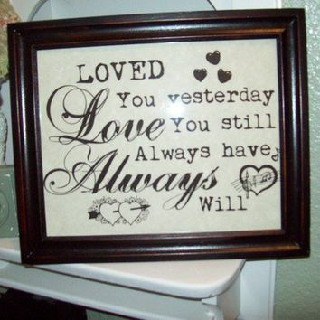 Shabby chic love always picture frame by JulieannasCreations