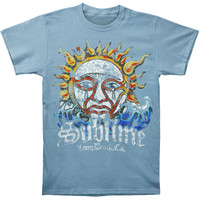 Sublime Men's  Blue Mens Sun T-shirt Blue Rockabilia