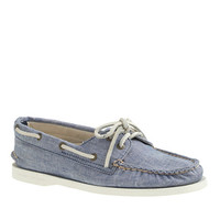 Sperry Top-Sider For J.Crew Authentic Original 2-Eye Boat Shoes In Chambray