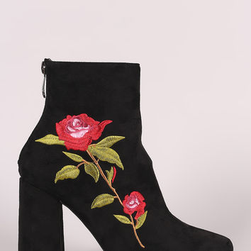 Embroidered Ankle Boots | UrbanOG
