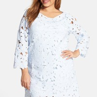 Plus Size Women's FELICITY & COCO Floral Lace Shift Dress (Nordstrom Exclusive)