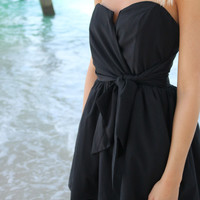 Summer Nights Mini Black Tube Top Party Dress