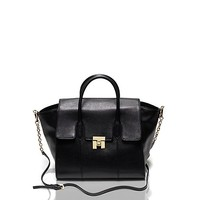 Large Saffiano Leather Postino Satchel | Tommy Hilfiger USA