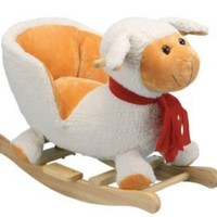 One Kings Lane - Fun & Games - Rockabye White Sheep Rocker with Seat
