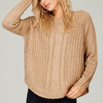 Beige Chunky Knitted Sweater