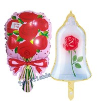 Mini hot new Rose balloons 10pcs/lot Beauty and beast white Rose flower Wedding Marriage Birthday Party decoration