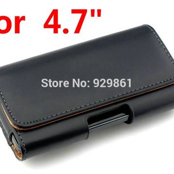 New Phone Cases Pouch For iPhone 8 7 6 6S Plus Belt Clip Holster Leather Mobile Original Phone Cover - 1PCS