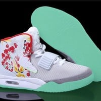 [Free Shipping ] Nike Air Yeezy 2 ¡°Givenchy¡± by Mache Customs Basketball Sneaker