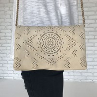 Acacia Crossbody Handbag in Ivory