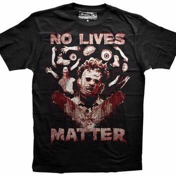 No Lives Matter T-Shirts - Men's crew Neck Top Tees