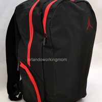 "Nike Air Jordan Backpack 15"" Laptop Jumpman Black Red Men Women School Book Bag"