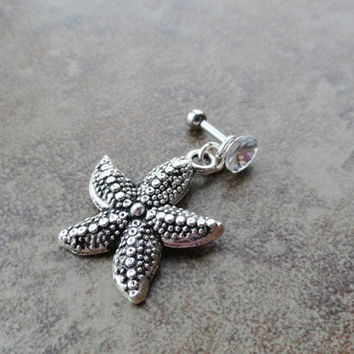 Starfish Tragus Cartilage Helix Piercing Earring