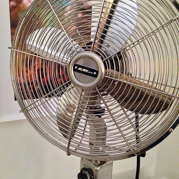 Allaire Telescoping Floor Fan - Brushed Nickel