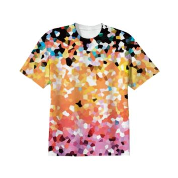 T-SHIRT Mosaic Sparkley Texture G22 created by Medusa GraphicArt | Print All Over Me