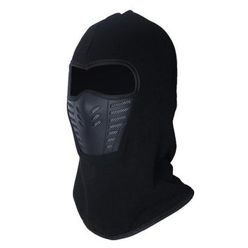 Men & Women Winter Neck Full Face Mask Thermal Fleece Protection Hat Ski Hood Helmet Cap Cycling Bike Accessories Outdoor Sports