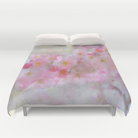 Dreams in Pink Duvet Cover by Lena Photo Art