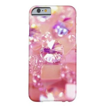Girly pink glitter pattern | Girly glitter Barely There iPhone 6 Case