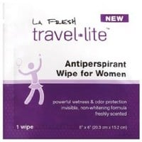 TRAVEL LITE® ANTIPERSPIRANT WIPES FOR WOMEN 48PACKETS