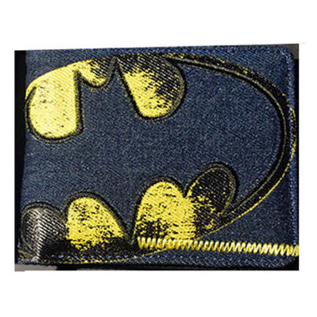 Batman - Vintage Logo Fabric Wallet - Billfold