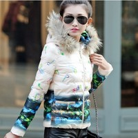 Nature Printed Down Jacket YRB0586