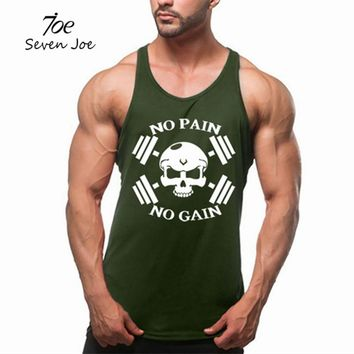 Seven Joe Fitness Tank Top Men Bodybuilding Clothing GYMS Fitness Men Shirt Cross fit Vests Cotton Singlets Muscle Top