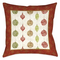 Holiday Ornaments Indoor Decorative Pillow