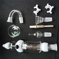 Nectar Collector 3.0 Kit with Curved Glass Bowl GR2 Titanium Nail Honey Straw Glass Dish Quartz Nail Plastic Clip For Glass Bong