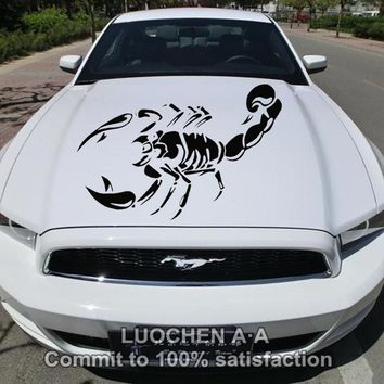 Car Stickers Large Scorpion Animal Creative Decals Auto Tuning Styling Waterproof Decorative For Head Doors 100*56cm D20
