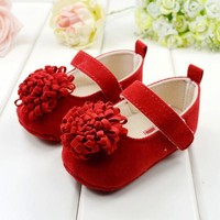 Baby Girl Shoes Summer Style Festival Flower Newly Born Infant Baby Girls First Walkers Kid Shoes