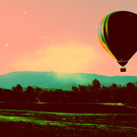 Hot Air Balloon Art Print by Derek Fleener