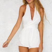 Brat Pack Playsuit White