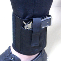 Concealed Carry Ankle Holster Universal Right Left Ankle Pistol Gun Holster for Medium Small Pistols