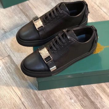 Buscemi Men's Leather Fashion Low Top Sneakers Shoes